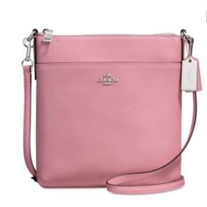 Coach Leather Messenger Crossbody in Pink